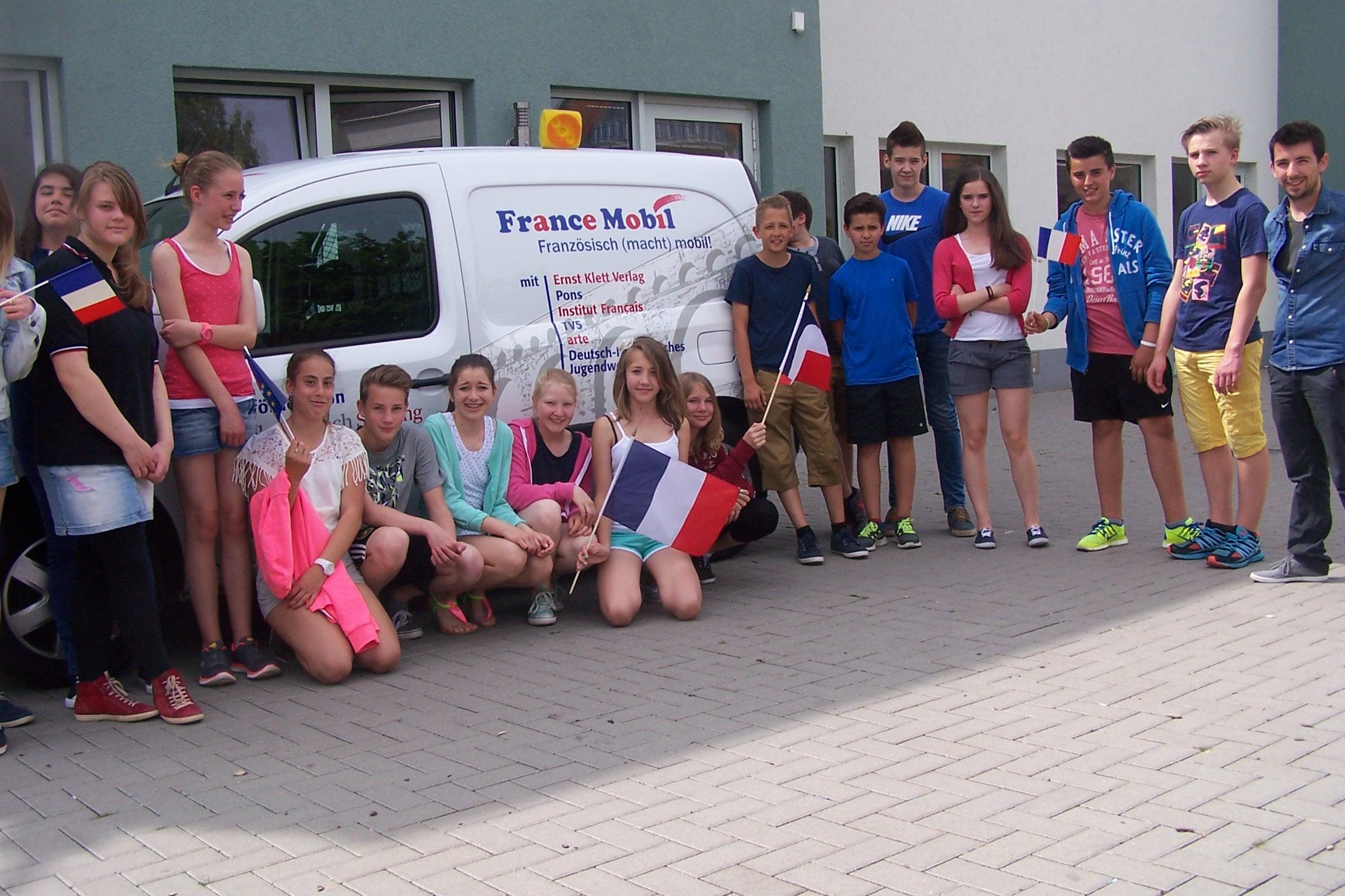 France Mobil zu Gast an der Taunusschule